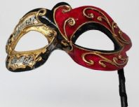 Black and Red Musical Mask
